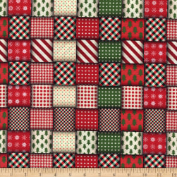Wrapped Ribbons Red/Green Fabric