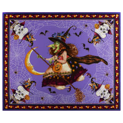Witchful Thinking Witch 36'' Panel Purple Fabric