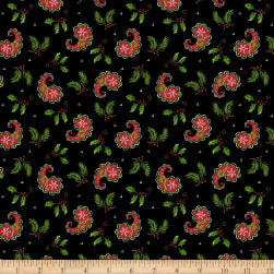 All That Glitters is Snow Christmas Paisley Black