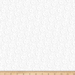 Snow Place Like Home Flannel Swirl White Fabric