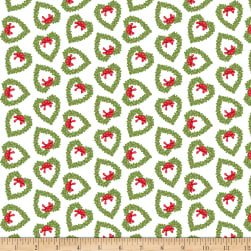 Snow Place Like Home Flannel Tossed Wreath White Fabric