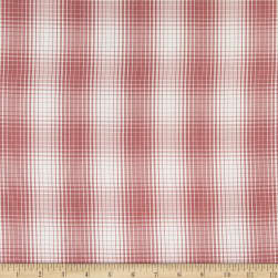 Fabtrends Yarn Dyed Chiffon Plaid Coral/White