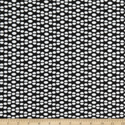 Fabtrends Solid Crochet Knit Black Fabric