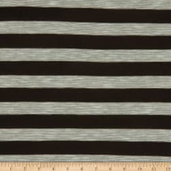 Jersey Stripes Brown Fabric