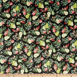 Michael Miller Minky Breakfast In Bed A Perfect Pear Black Fabric