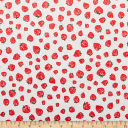 Michael Miller Minky Kiss The Cook Strawberry Jam Pearl Fabric
