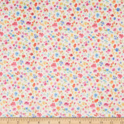 Michael Miller Minky In The Garden Colorful Cuttings White Fabric