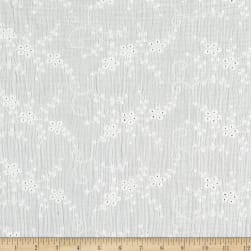 Telio Double Gauze Cotton Eyelet Embroidery White Fabric