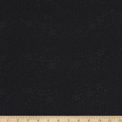Telio Double Gauze Cotton Eyelet Embroidery Black Fabric