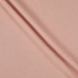 Telio Double Gauze Cotton Shell Pink Fabric