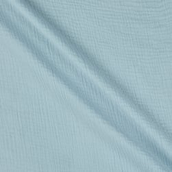 Telio Double Gauze Cotton Celestial Blue Fabric