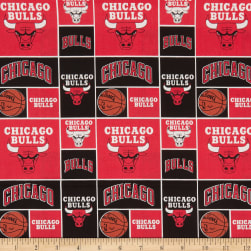 NBA Chicago Bulls Patch Cotton Broadcloth Red Fabric