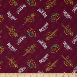NBA Cleveland Cavs Cotton Broadcloth Red Fabric