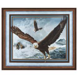 Wild Wings Digital Quest Of The Hunter Wall 36'' Panel Brown Fabric
