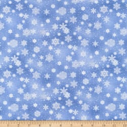 Landscape Medley Snowflakes Silver Fabric
