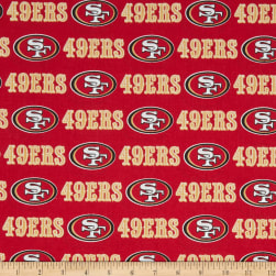 NFL Cotton Broadcloth San Francisco 49ERS Red Fabric