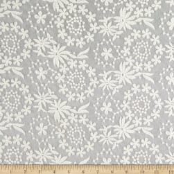 Fabric Merchants Embroidered Lace Floral Ivory