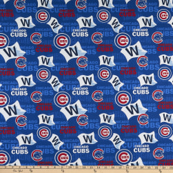 MLB Broadcloth Chicago Cubs W Pennant Blue/Red