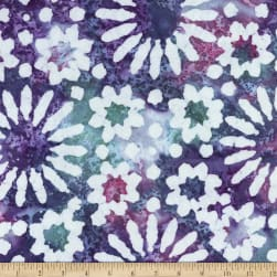 Sarasota Yarn Dyed Floral Woven White On Purple