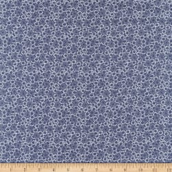 Spring Time Floral Bunches Denim Fabric