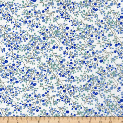 Spring Time Blume Blue/White Fabric