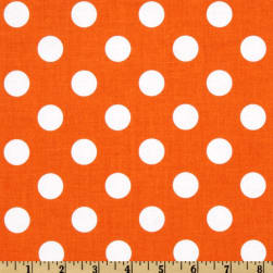Riley Blake Dots Medium Orange