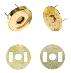 Magnetic Purse Snap 14mm Gold
