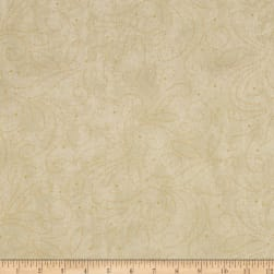 "110"" Wide Quilt Backing Scroll Cream"
