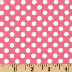 Riley Blake Dots Small Hot Pink