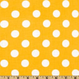Riley Blake Dots Medium Yellow