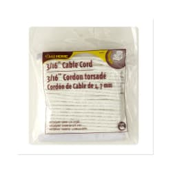 "Cable Cord 3/16"" 10 Yards/Pkg White"