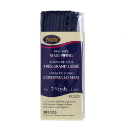 "Bias Tape Maxi Cord Piping 1/2"" x 2 1/2"" Yards Navy"