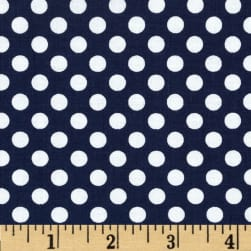 Riley Blake Dots Small Navy