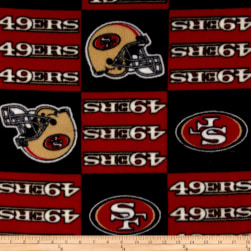 NFL Fleece San Francisco Squar Fabric