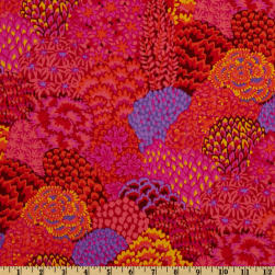 Kaffe Fassett Collective Fall Oriental Trees Red