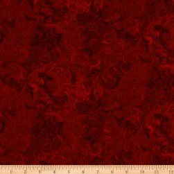 "108"" Flourish Quilt Backing Red"