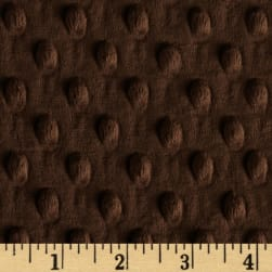 Shannon Minky Cuddle Dimple Brown Fabric