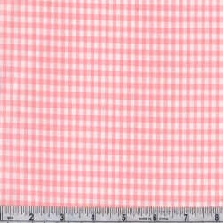 Kaufman 1/8'' Carolina Gingham Candy Pink Fabric