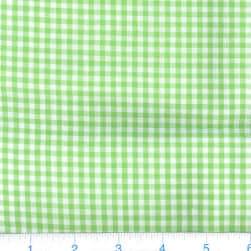 Kaufman 1/8'' Carolina Gingham Lime Fabric