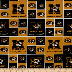 Collegiate Cotton Broadcloth University of Missouri Tigers Fabric