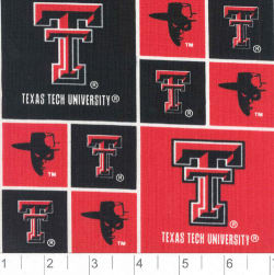 Collegiate Cotton Broadcloth Texas Tech University Red Raider