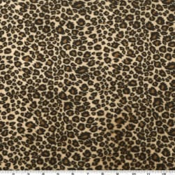 Shannon Minky Cuddle Cheetah Tan/Brown Fabric