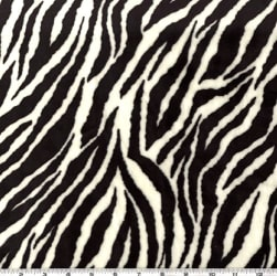 Shannon Minky Cuddle Zebra Black/Snow White Fabric