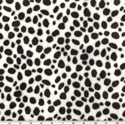 Shannon Minky Cuddle Dalmatian Black/White Fabric