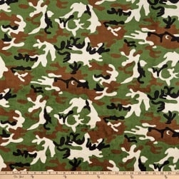 Shannon Minky Cuddle Camouflage Green Fabric