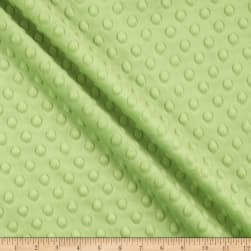 Shannon Minky Cuddle Dimple Dark Lime Fabric