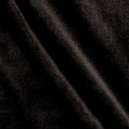 Alpine Upholstery Velvet Black Fabric