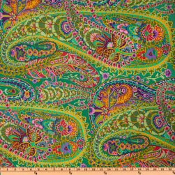 Kaffe Fassett Paisley Jungle Green Fabric