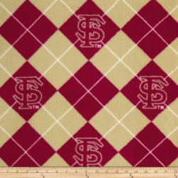 Collegiate Fleece Florida State University Argyle Red/Tan
