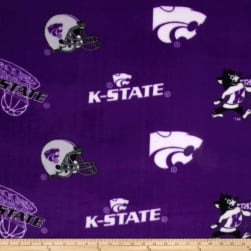 Collegiate Fleece Kansas State Tossed Purple/White